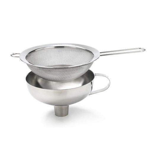 סט משפך ומסננת (funnel & sieve)